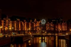 Smiley i Speicherstadt