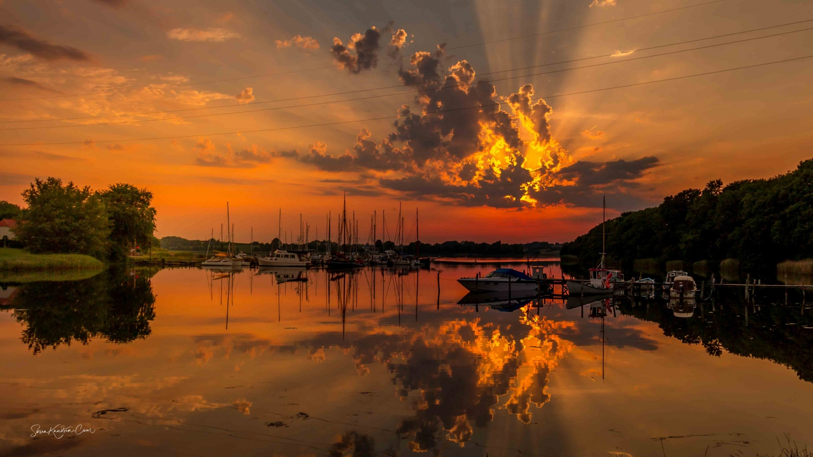 Solnedgang, Mjels